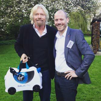 Rob Law with Virgin Boss Richard Branson