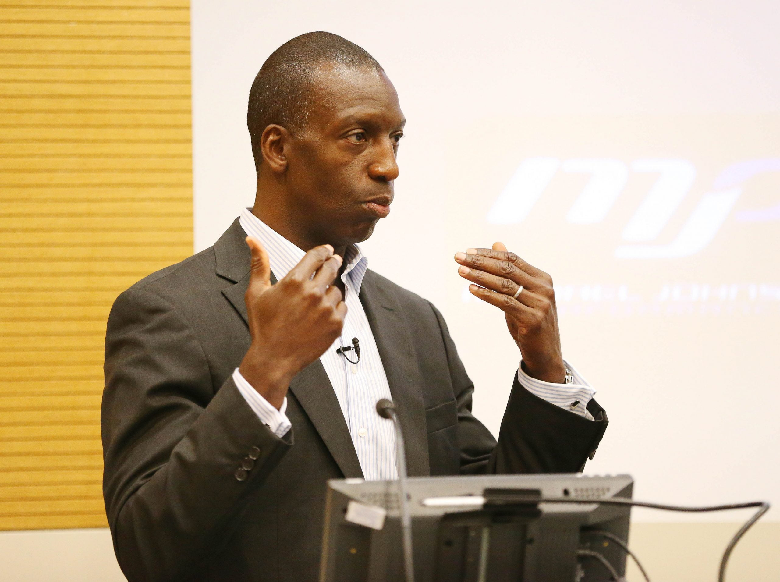 Michale Johnson sports celebrity keynote speaker